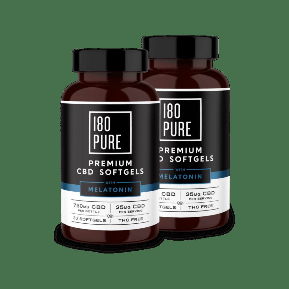 180 Pure Premium CBD Softgels Melatonin