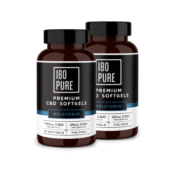 180 Pure Premium CBD Softgels Melatonin