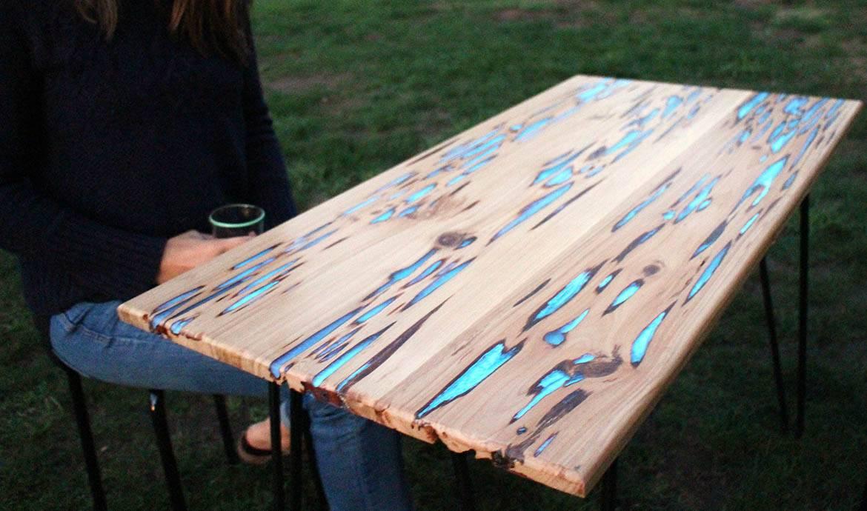 fabriquer une table phosphorescente