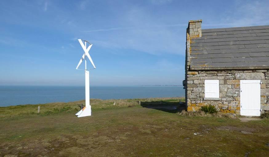 la generatrice qui transforme la force motrice du vent en electricite est integree au