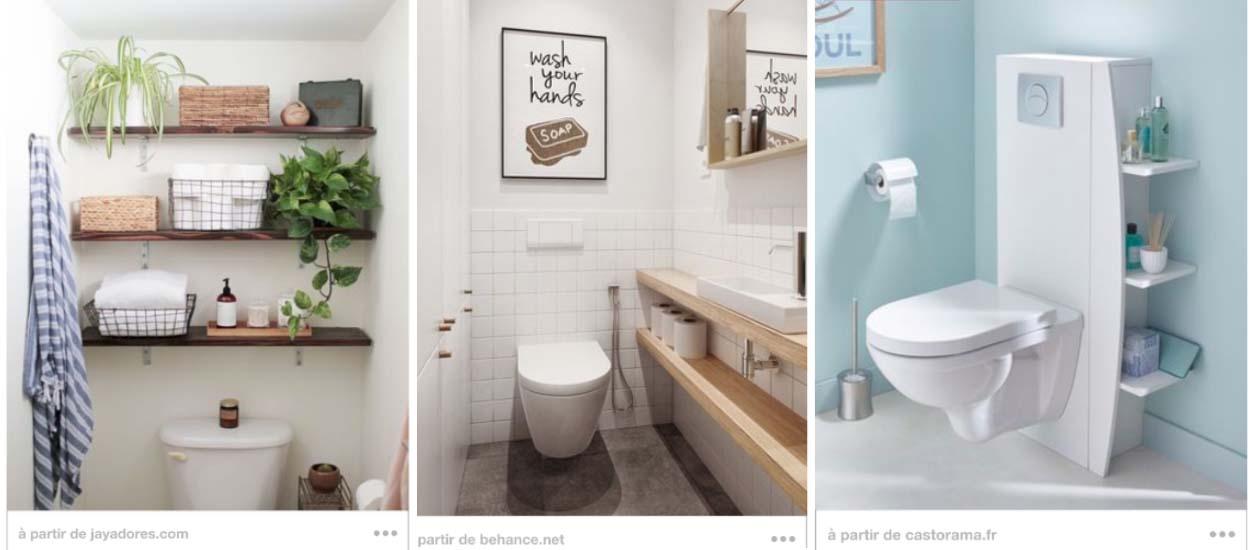rangement dans les toilettes