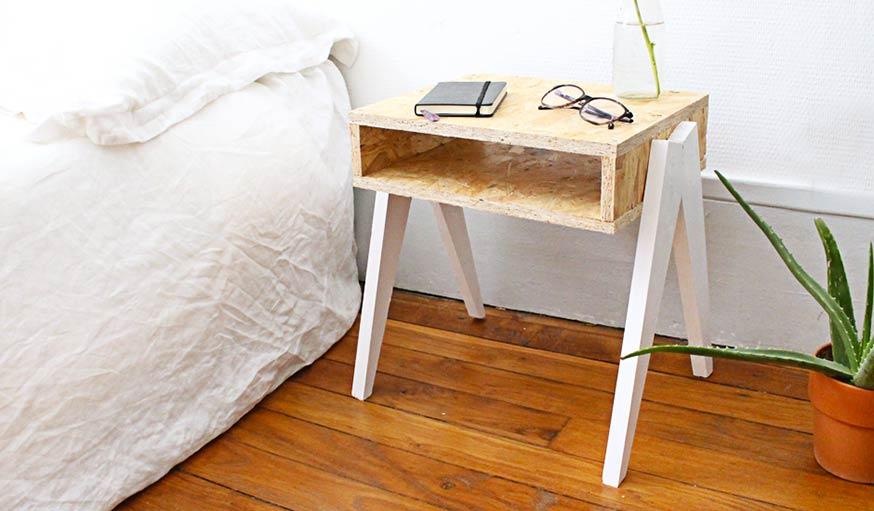 Une Table De Chevet En Bois Originale En DIY Pour Une