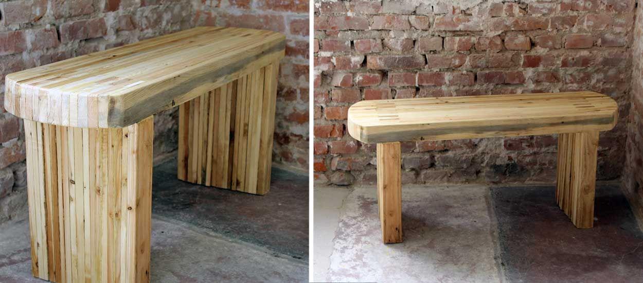 un banc en bois de palette en diy