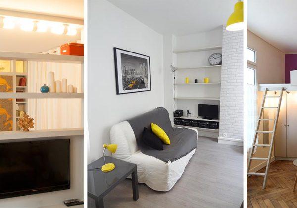 Idees Pour Amenager Un Petit Studio De 20m2 Dans Le Salon Ou La Salle De Bains