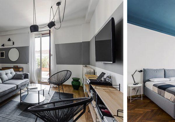 cet appart multiplie les idees originales cote peinture pour agrandir l espace