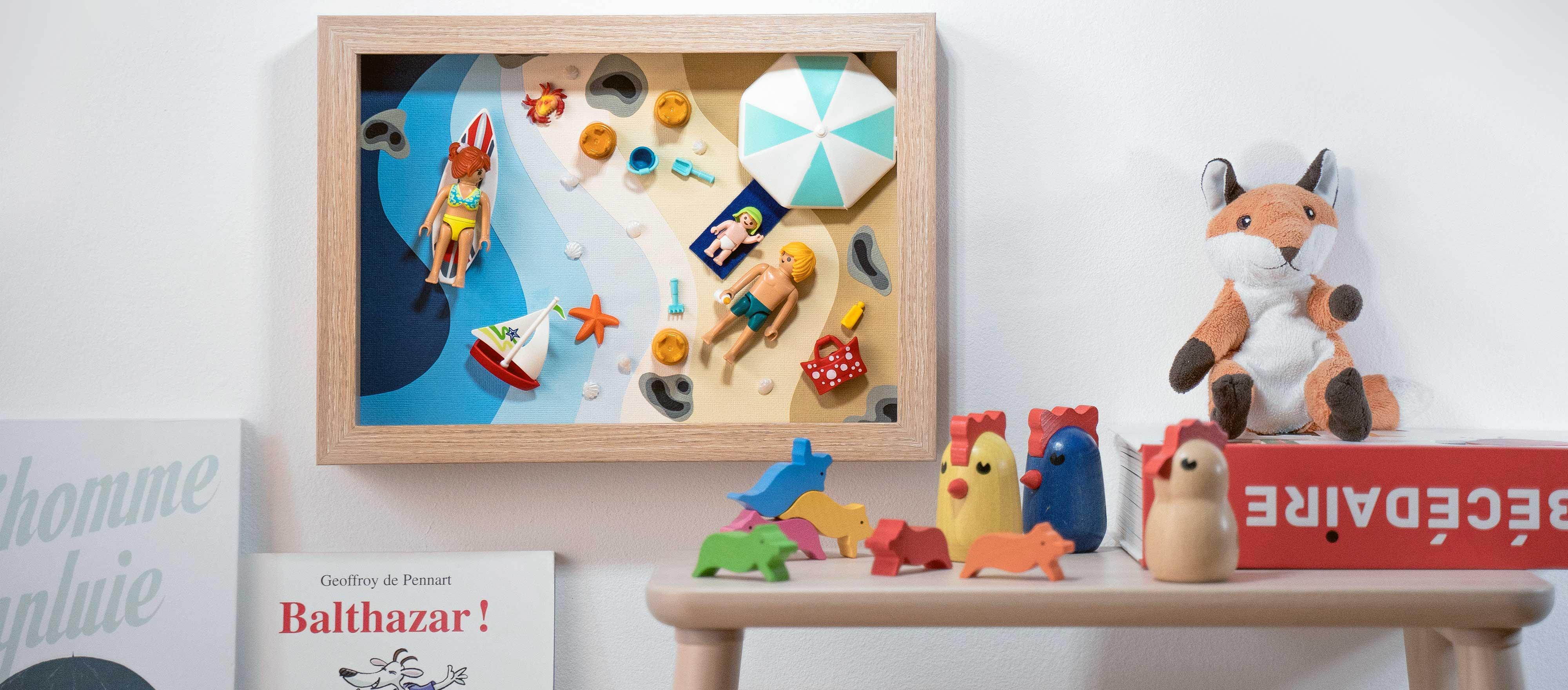 tuto creez votre propre cadre playmobil pour une chambre d enfant