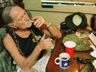 Willie Nelson smoking weed
