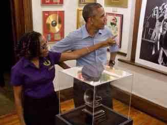 President Obama at Bob Marley Museum