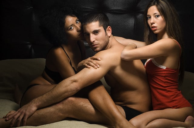 Sexual images of men and women