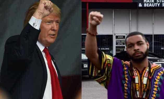 Donald Trump and Micah Johnson