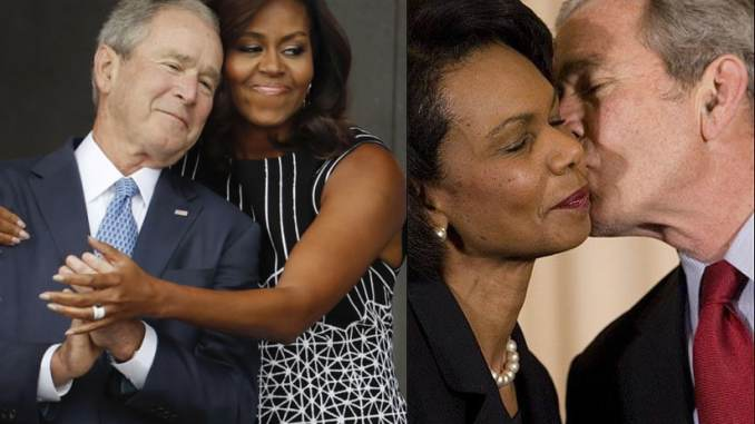 George Bush loves Black women