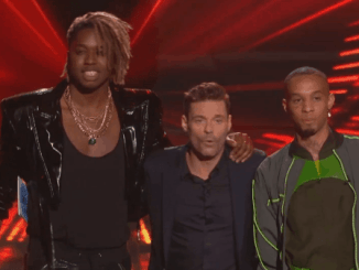 Uche, Ryan Seacrest and Demetrius on American Idol (Courtesy of ABC)