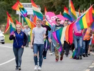 Homosexuals protesting Reggae