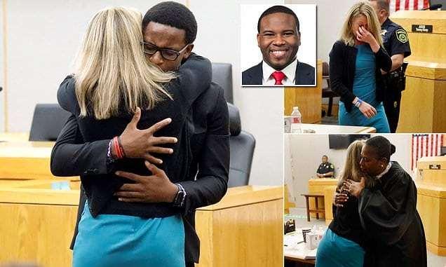 Free hugs for killing an innocent Black man