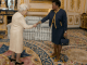 Queen Elizabeth and the governor general of Barbados, Sandra Mason