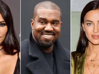 Kim Kardashian, Kanye West and Irina Shayk