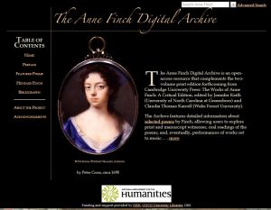 Anne Finch Digital Archive