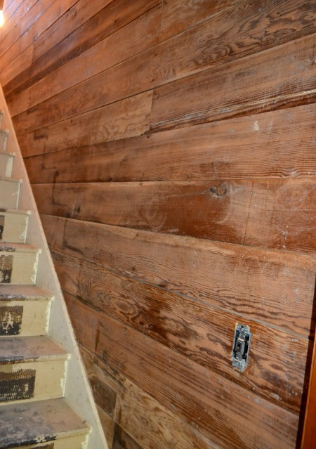 Original 1905 shiplap after sanding and before priming and painting