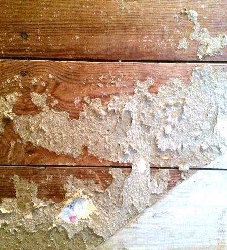 Removing wallpaper from original shiplap