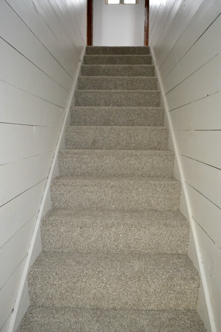 Step by step how to transform a dark stairwell to a bright beautiful space that you want to show off