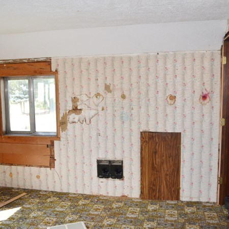 Goodbye 1970s Wood Paneling And Hello Drywall 1905 Farmhouse