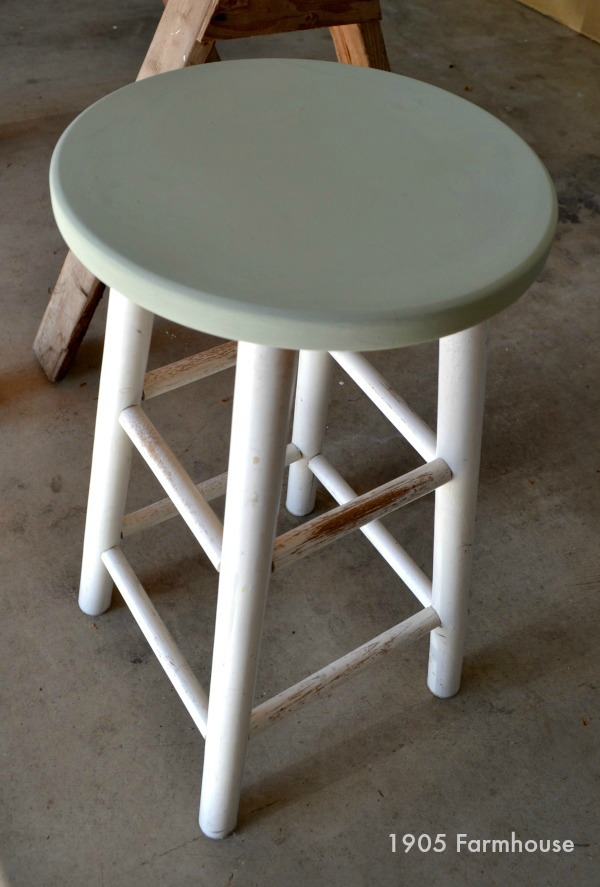 How to transform a thrift store stool with a little milk paint