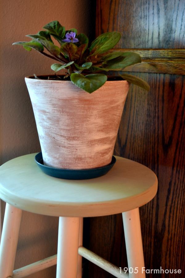 Finished milk paint bar stool