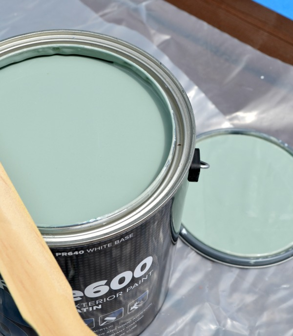 Clearance paint from Home Depot that I would describe as a Robin's Egg Blue