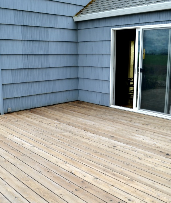 Deck after pressure washing
