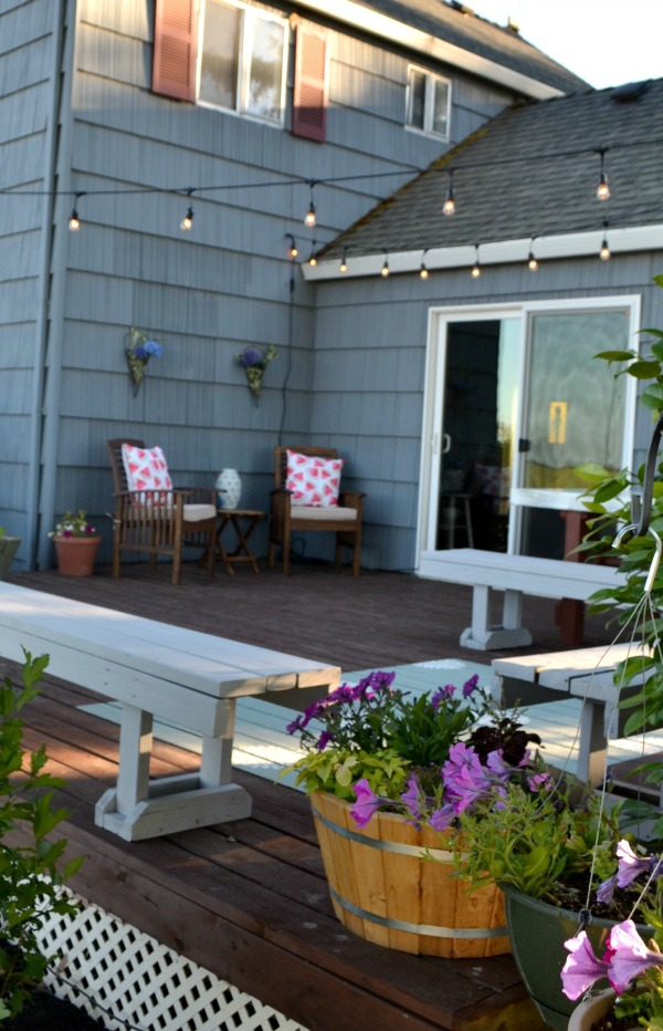 Outdoor Living space makeover reveal