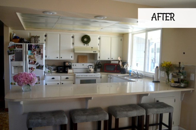 Partial kitchen update with painted cabinetry