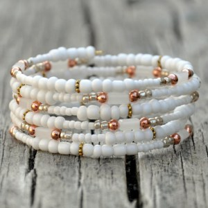 Beautiful beaded wrap bracelets from A Hole in Her Stocking