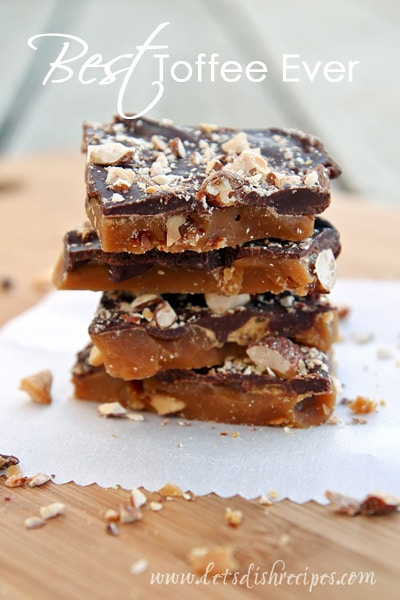 Toffee recipe from Let's Dish Recipes