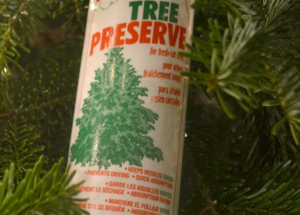 Santa Tree Preserve is the best way to keep your Christmas tree needles green and on the tree until Christmas