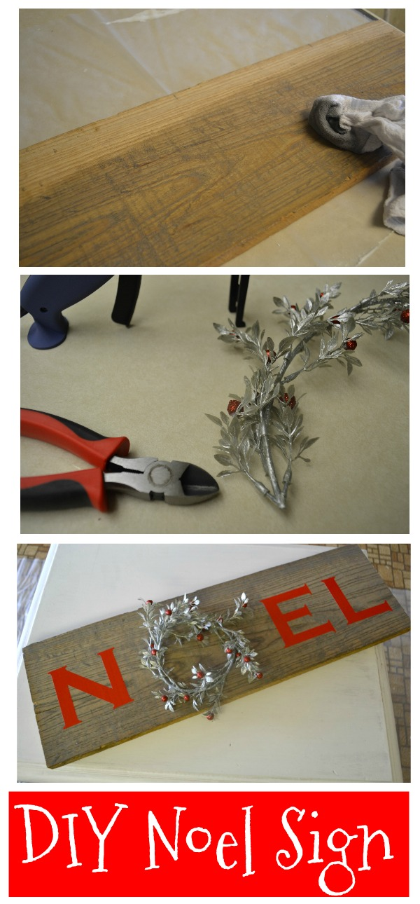 Complete instructions to make your own Noel wreath sign