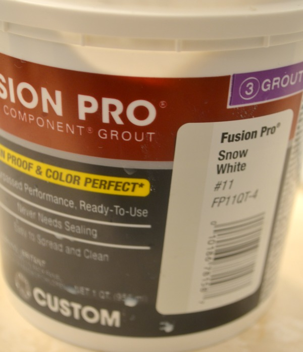 Fusion Pro grout that is pre-mixed and ready for application is a quick and easy way to finish vinyl tile