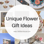 Collage of pictures of unique flower gifts