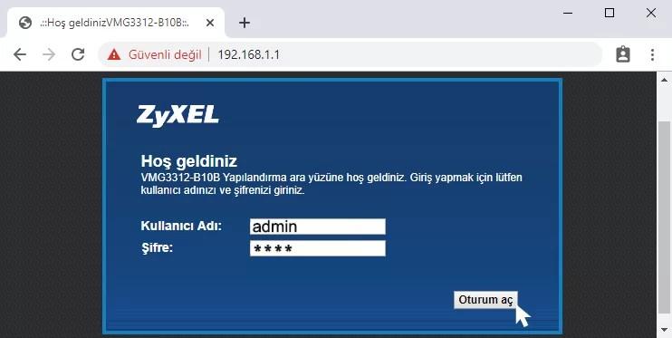 Türk Telekom Modem Şifresi Değiştirme