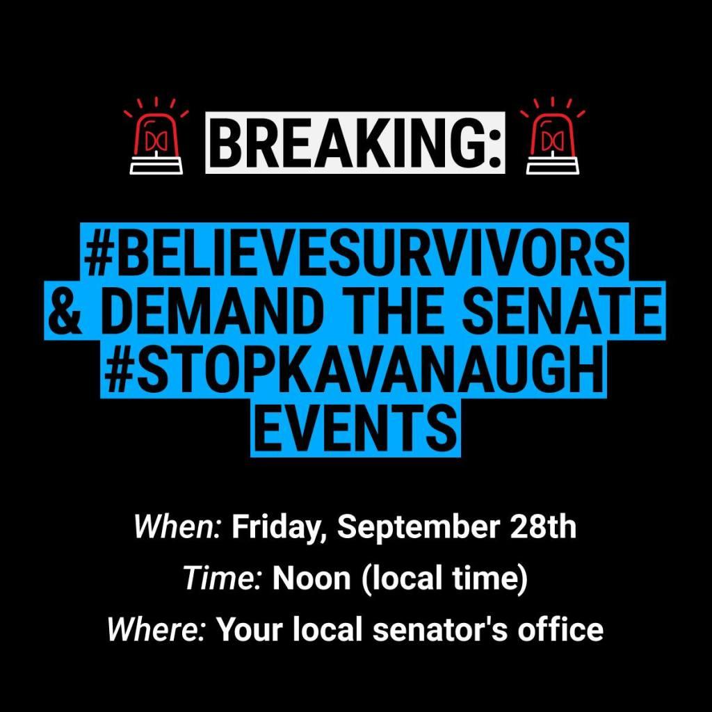 Believe survivors. Stop Kavanaugh