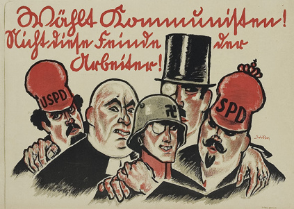 Affiche kpd fascime bourgeoisie