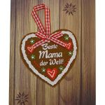 Zu Weihnachten: Klappkarte als Grußkarte für die beste Mama mit Briefumschlag ein prima Geschenk