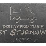 Zu Weihnachten: Dekoschild aus Schiefer 300 x 200 mm – Motiv Wohnmobil ein prima Geschenk