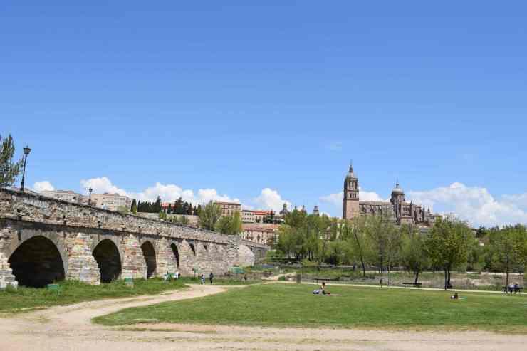 Cathédrale depuis la rivière Tormes