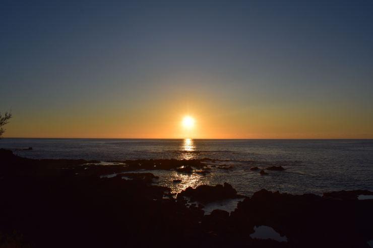 Coucher du soleil à Mosteiros