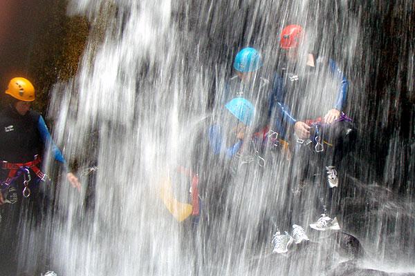 Canyoning-cascade