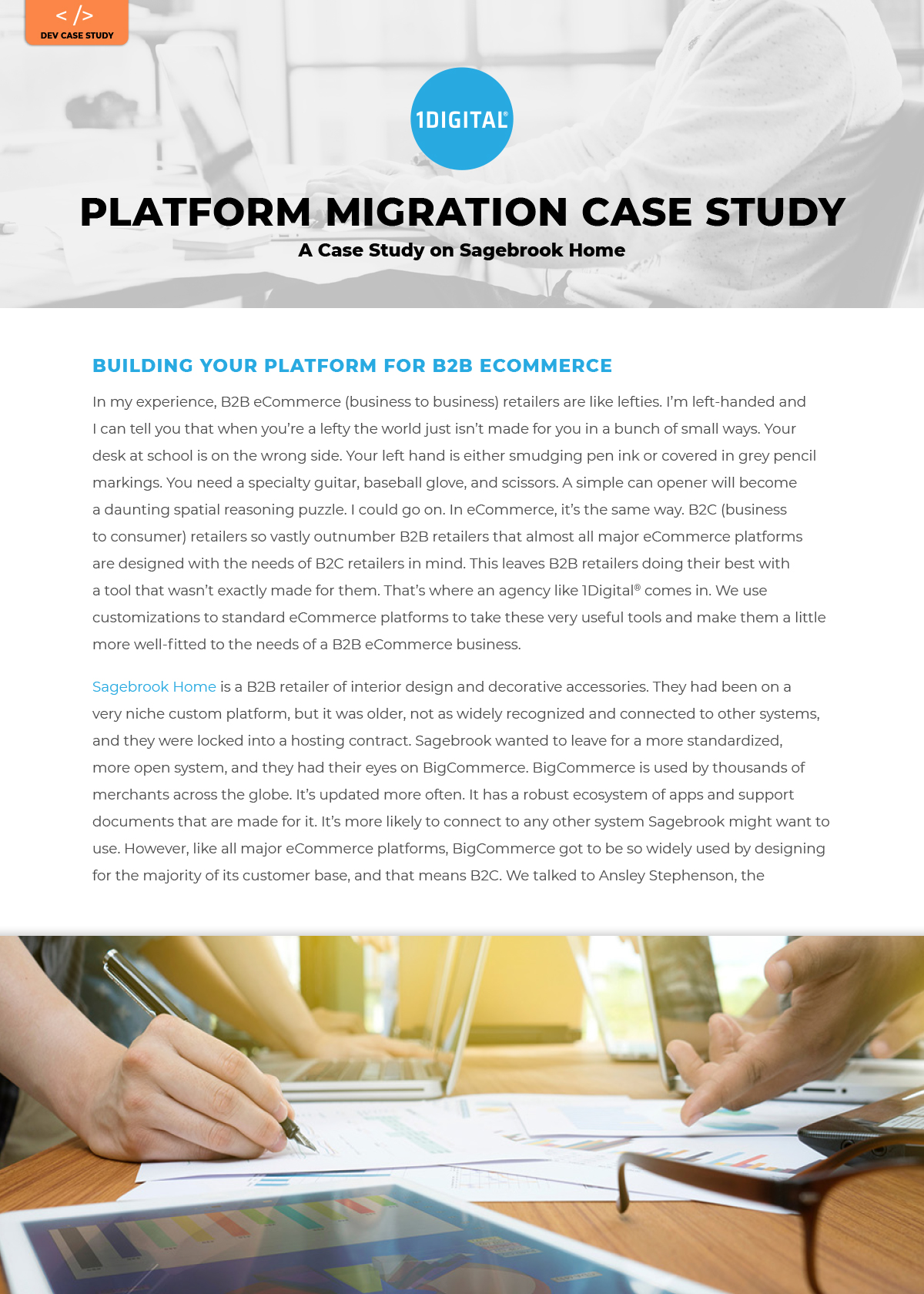 Building Your Platform for B2B Commerce