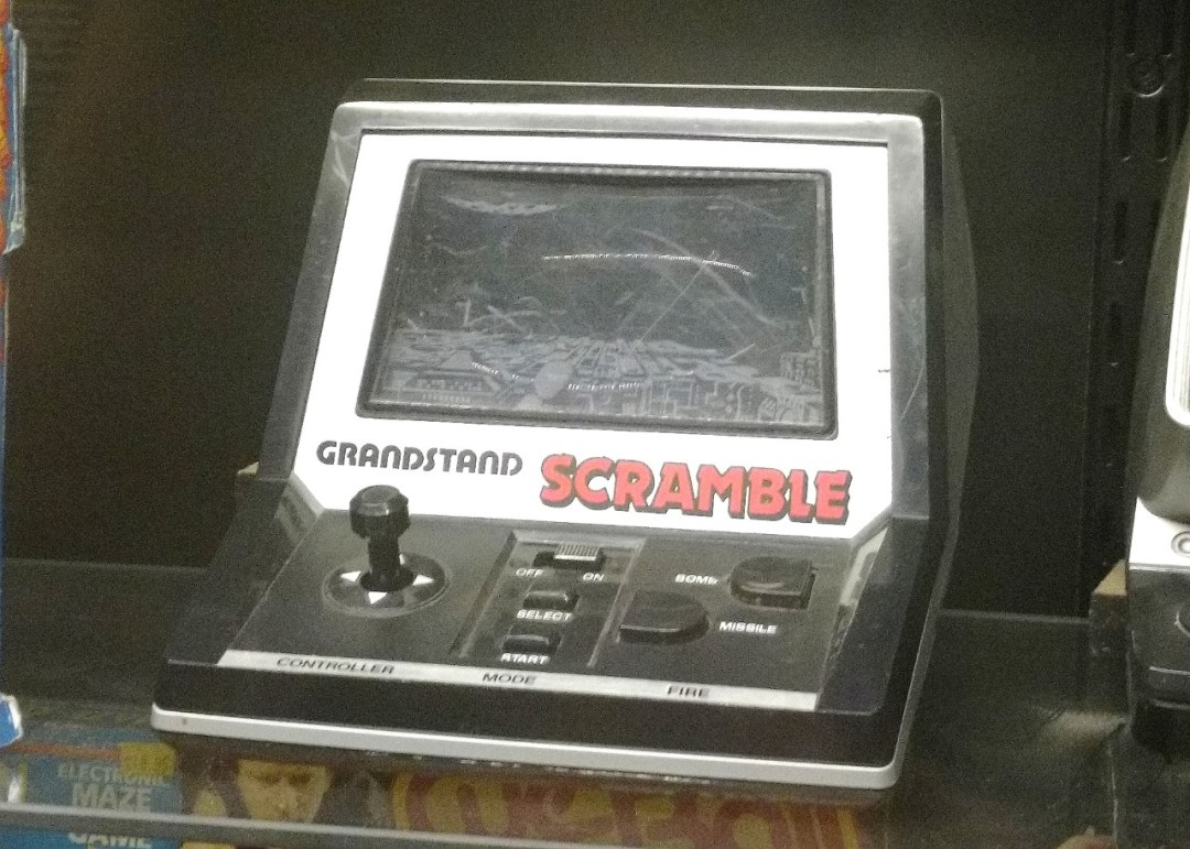 Grandstand Scramble handheld video game from the 1980's.