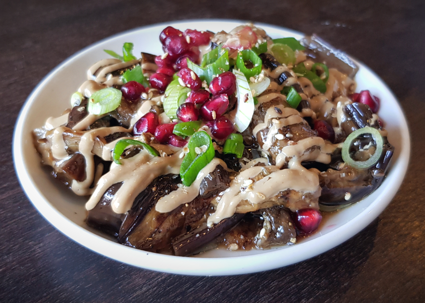 This restaurant in Tooting serve up some great Taiwanese snacks, including this aubergine dish.