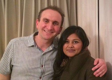 Aaron Vallance and Shahnaz Ahsan, authors of Curry & Kneidlach: A Tale of Two Immigrant Families