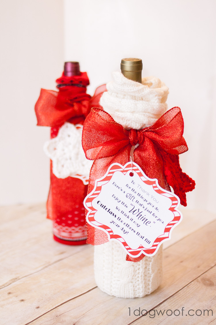 Wine And Whine Gift With Sock Gift Wrapping And Printable
